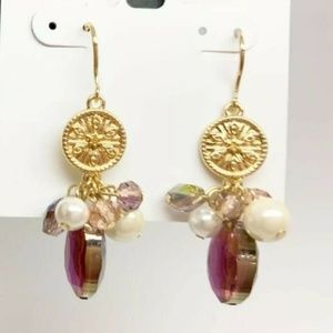 INC Jewelry - INC Drop Iridescent Berry Pearl Earrings NEW